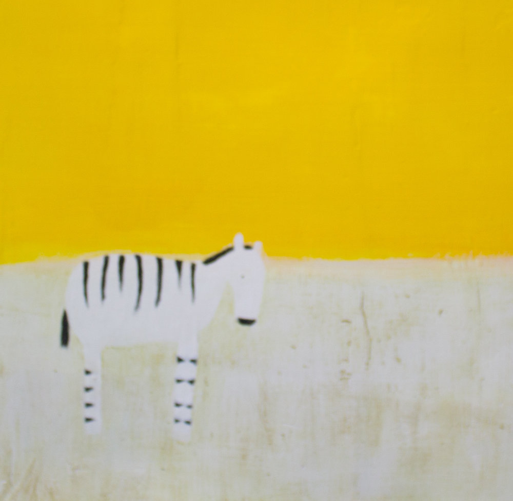 Artist: Andrew Squire  Title: Zebra  Medium: Oil on gesso panel  Size: 30 x 30 cm  Price: £1200