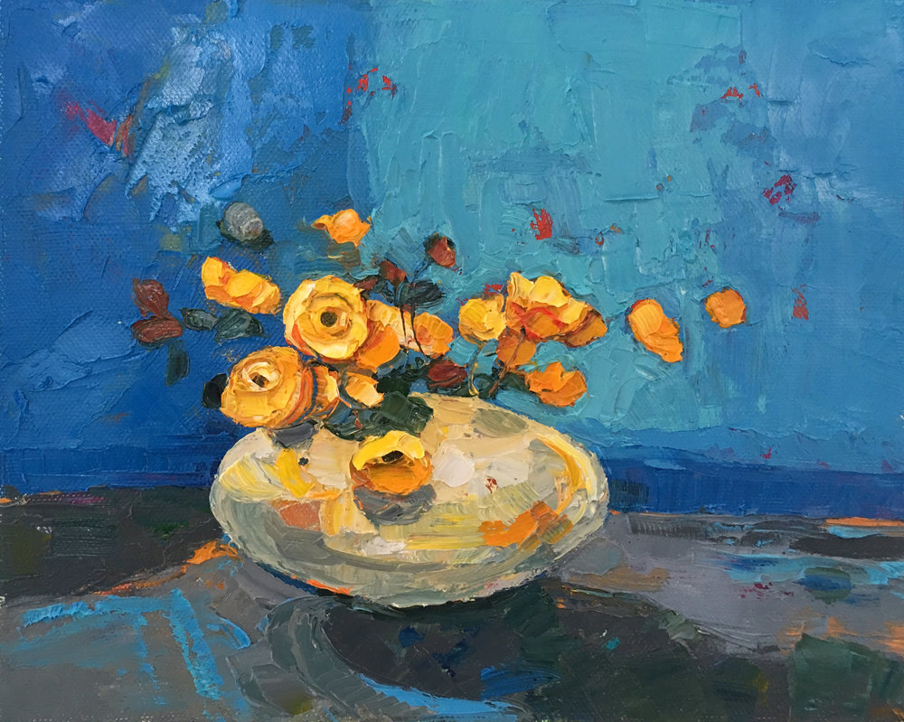 Artist: Kirsty Wither  Title: All Buoyed Up  Medium: Oil on canvas  Size: 20 x 25 cm  Price: SOLD