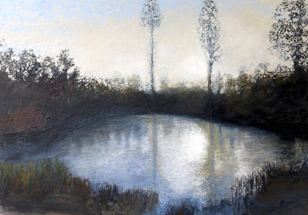 Artist: Luella Martin  Title: Pond  Medium: Oil on canvas  Size: 59 x 84 cm  Price: £1400