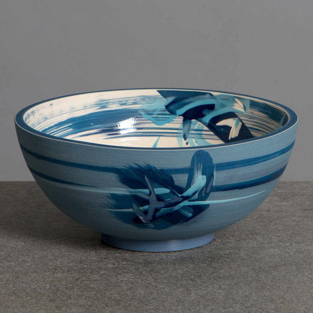 Artist: Rowena Gilbert  Title: Under The Waves  Medium: Medium Ceramic Bowl  Size: H 8.5 cm x Dia 18.5 cm  Price: £300