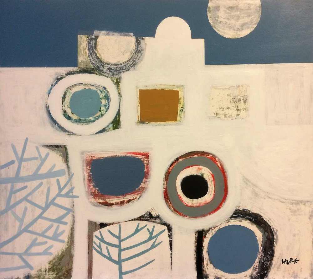 Artist: Simon Laurie  Title: Aegean Moon  Medium: Acrylic on canvas  Size: 81 x 91 cm  Price: SOLD