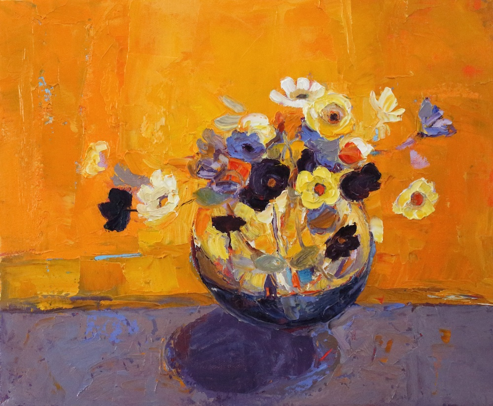 Artist: Kirsty Wither  Title: Gold and Butter  Medium: Oil on canvas  Size: 25 x 39 cm  Price: £1500
