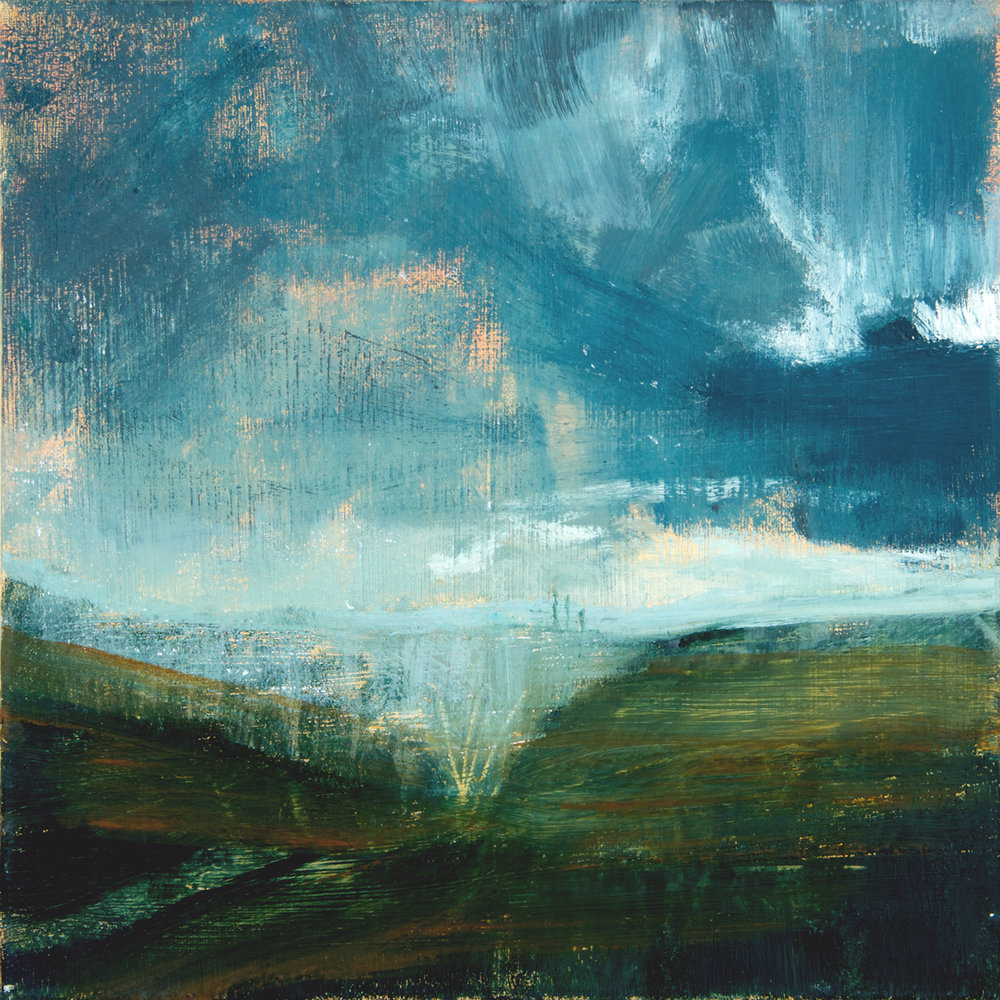 Artist: David Scott Moore  Title: Tuscan Storm I  Medium: Oil on canvas  Size: 40 x 40 cm  Price: £1200