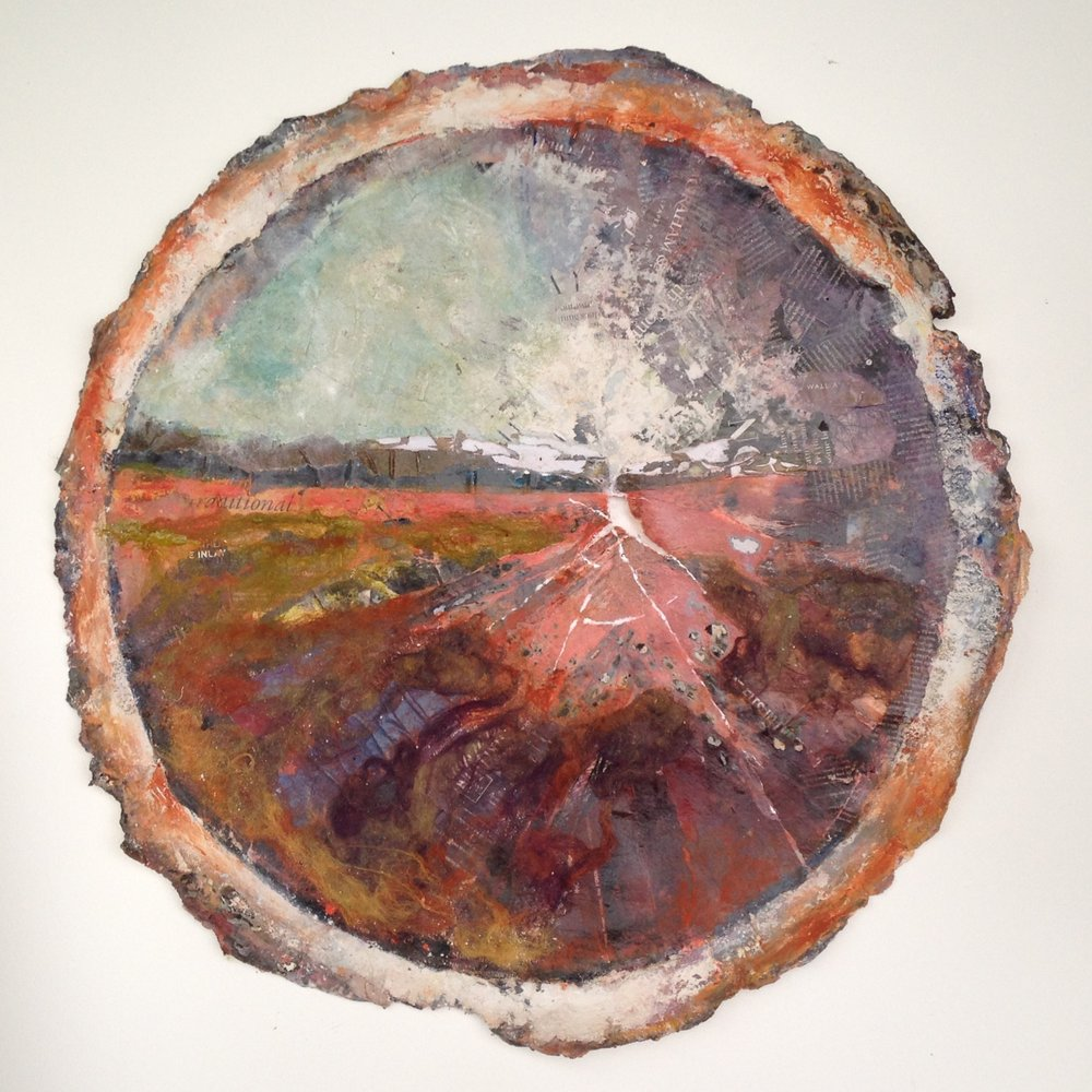 Artist: Viv Richards  Title: Sussex  Medium: Mixed Media  Size: 84 x 84 cm  Price: £1500