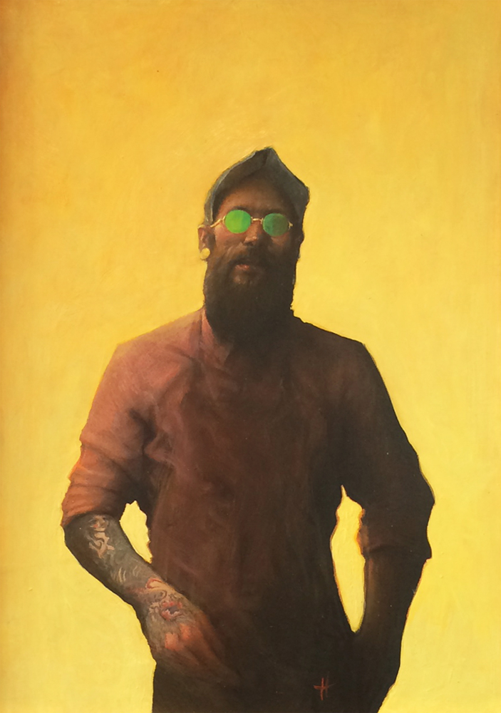 Artist: Kevin Hendley  Title: Dapper Dan  Medium: Oil on panel  Size: 47 x 32 cm  SOLD