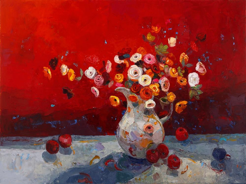 Title: A Lavish Party Size: 76 x 102 cm Medium: Oil on canvas  SOLD