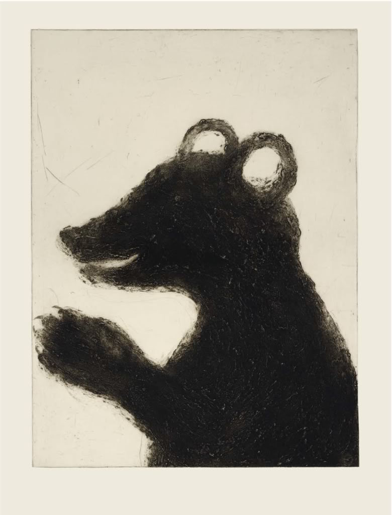 Title: Bear (in profile) Size: 94 x 71 cm Medium: Drypoint
