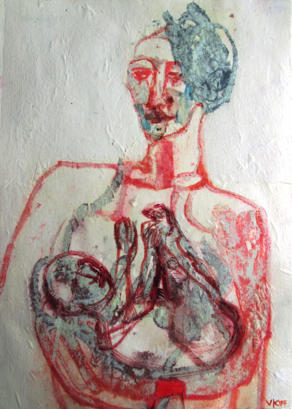 Title: Lutetian Reddish Size: 19 x 28 cm Medium: Ink and pastel on paper