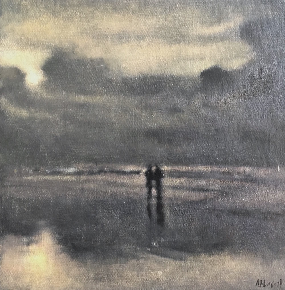 Artist: Anne Magill  Title: A Walk  Medium: Acrylic on canvas  Size: 30 x 30 cm  Price: £7950