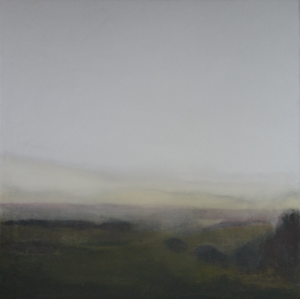 Artist: Anna Boss  Title: Mist Rising  Medium: Acrylic on canvas  Size: 80 x 80 cm  Price: £1800