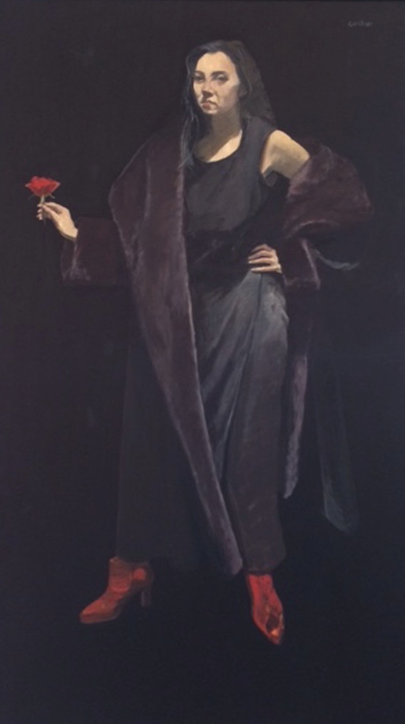 Artist: Alexandra Gardner  Title: The Rose  Medium: Oil on canvas  Size: 150 x 80 cm