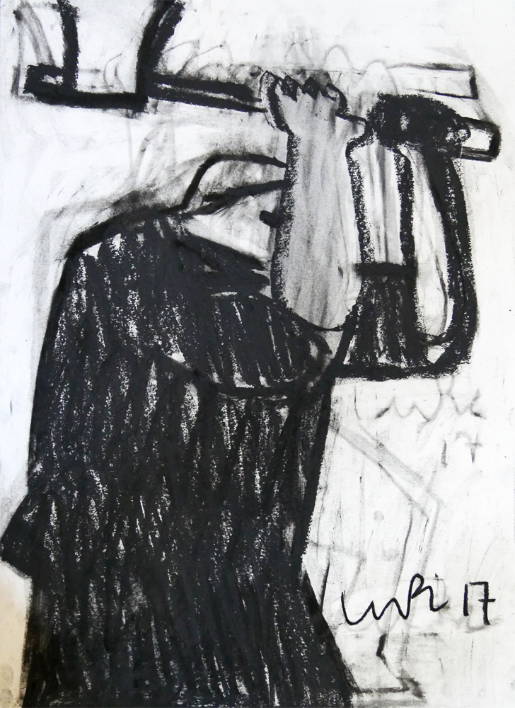 Artist: Luke Hannam  Title: The Woodcutter  Medium: Charcoal on paper  Size: 76 x 56 cm  Price: £450
