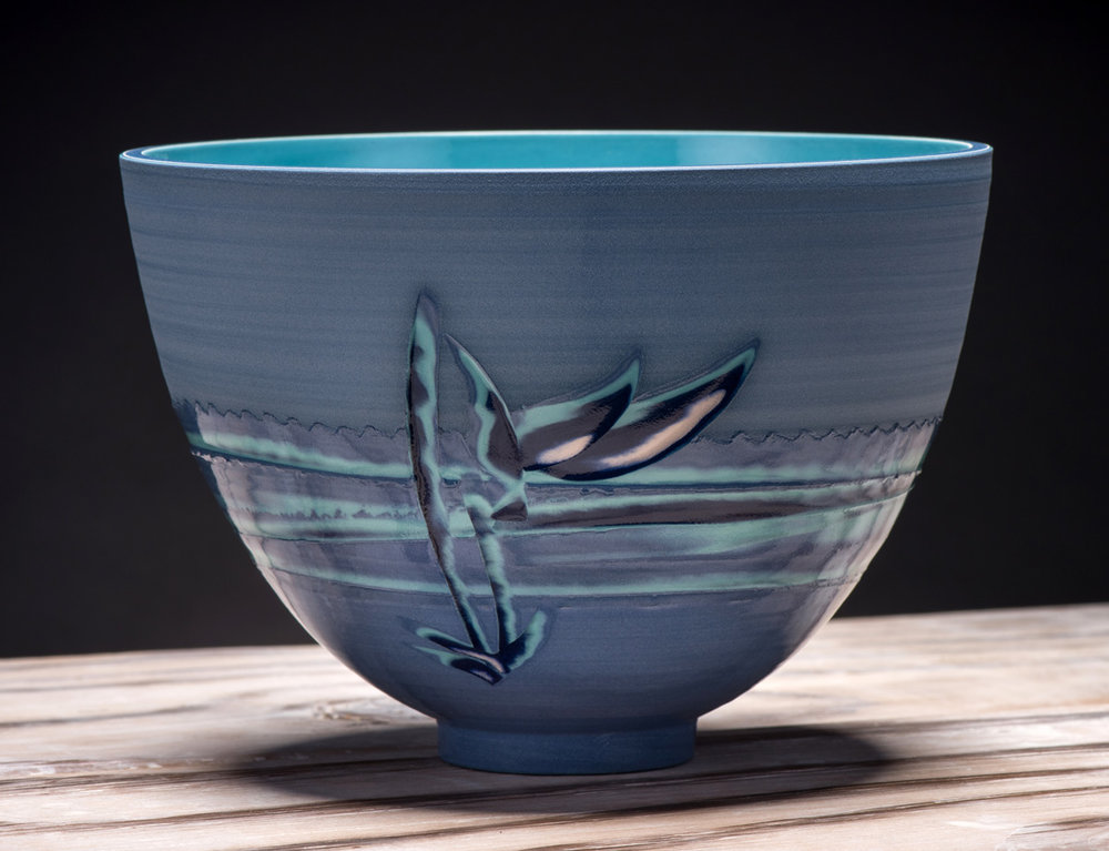 Title: Medium Tall Bowl - Coast Series 2 Size: H 13cm x W 18.5cm x D 18.5cm Medium: Ceramic SOLD
