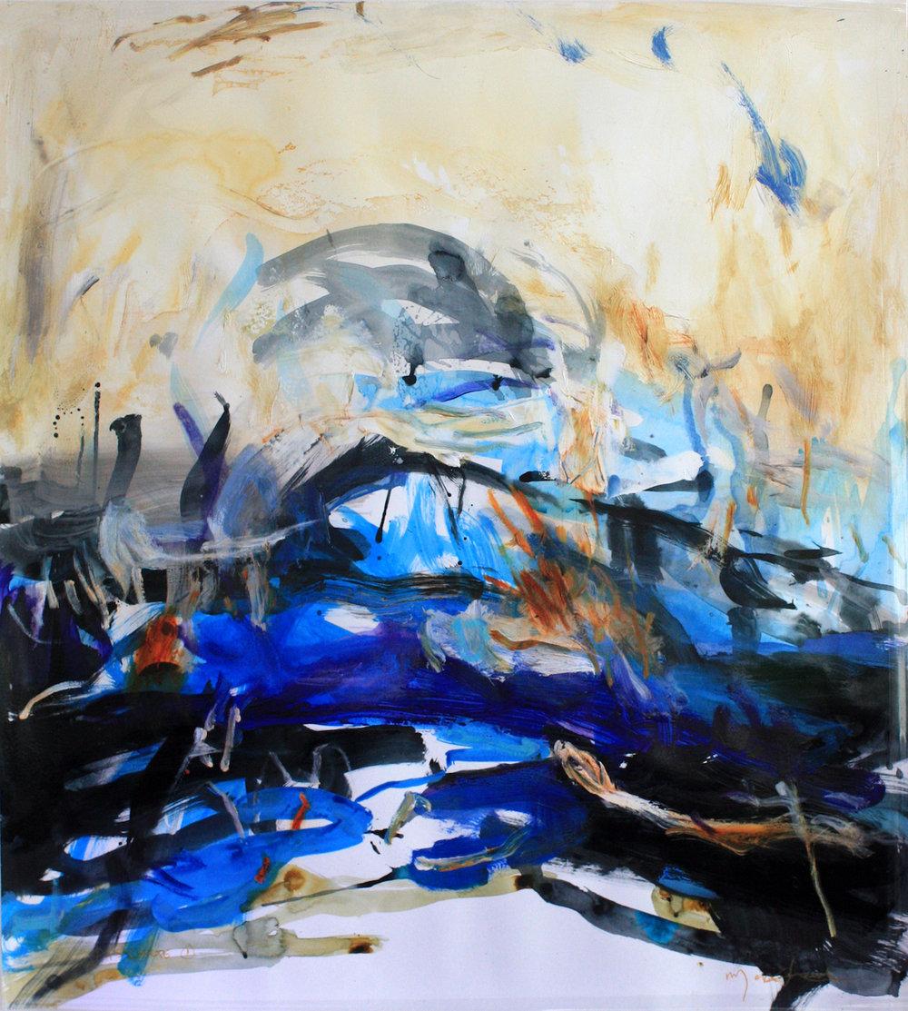 Artist: Mark Johnston  Title: Passage I  Size: 100 x 110 cm  Medium: Mixed media on paper  Price: £2400