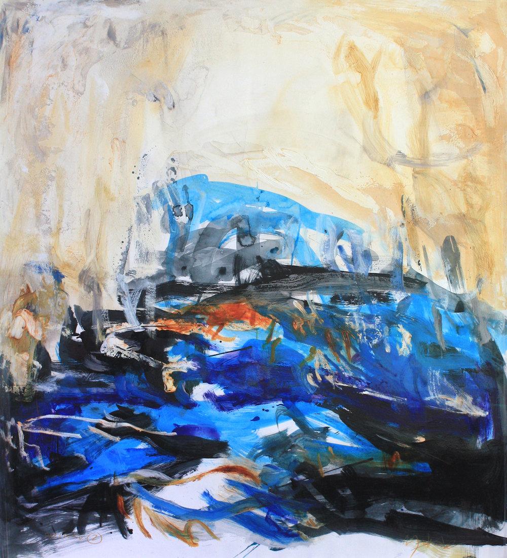 Artist: Mark Johnston  Title: Passage II  Size: 100 x 110 cm  Medium: Mixed media on paper  Price: £2400