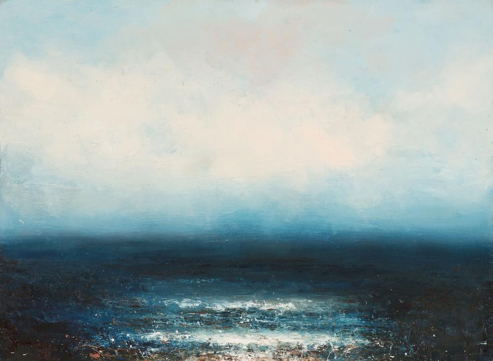 Artist: Hannah Ludnow  Title: Azure  Size: 80 x 100 cm (framed price)  Medium: Oil on canvas  Price: £1350
