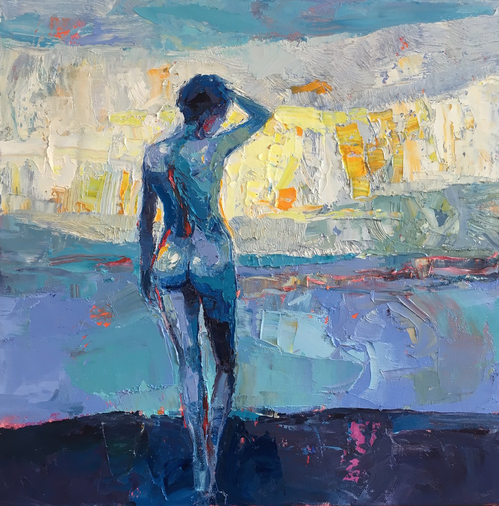 Artist: Kirsty Wither  Title: Early Dawn  Size: 40 x 40 cm  Medium: Oil on canvas  Price: £1200