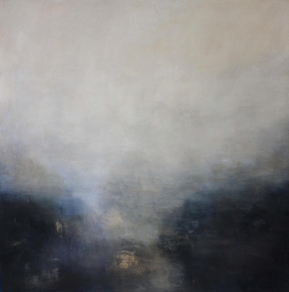 Artist: Victoria Graimes  Title: Black Grey Umber  Size: 115 x 115 cm  Medium: Oil on canvas  Price: £3250