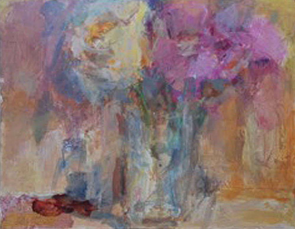 Artist: Anja Niedring  Title: Nocturnal Flowers  Size: 24.5 x 31.5 cm  Medium: Egg Tempera & Oil on board  Price: £550