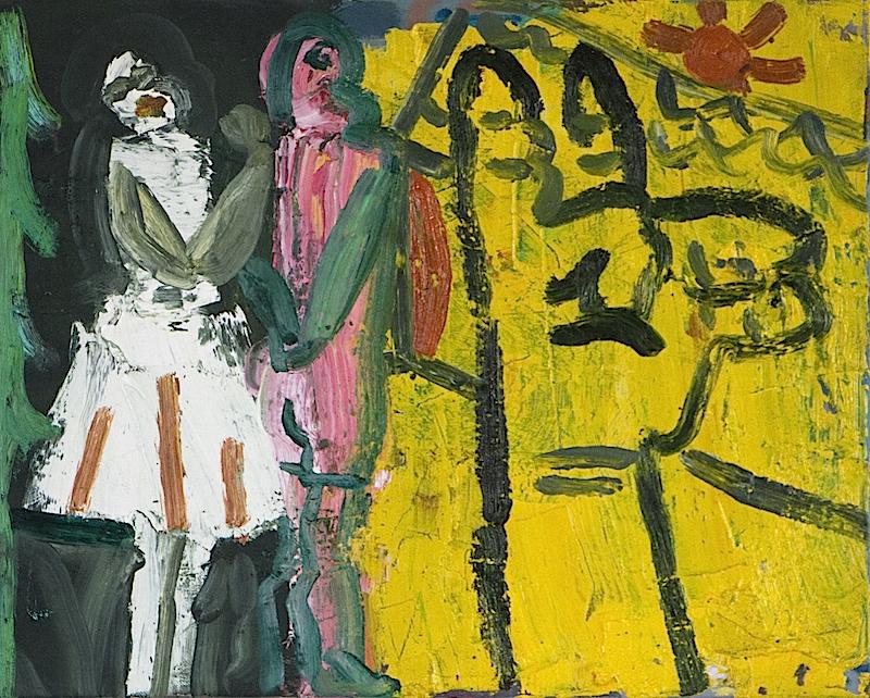 Artist: Luke Hannam  Title: Hansel and Gretel Watch The Sunrise  Size: 50 x 40 cm  Medium: Oil on canvas  Price: £1400