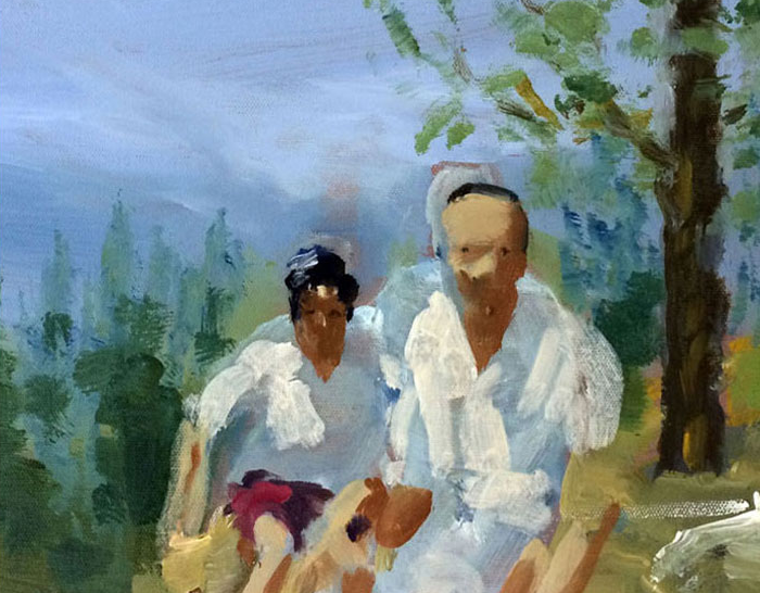 Artist: David Storey  Title: Endless Summer  Size: 30 x 40 cm  Medium: Oil and acrylic on canvas  Price: £1100