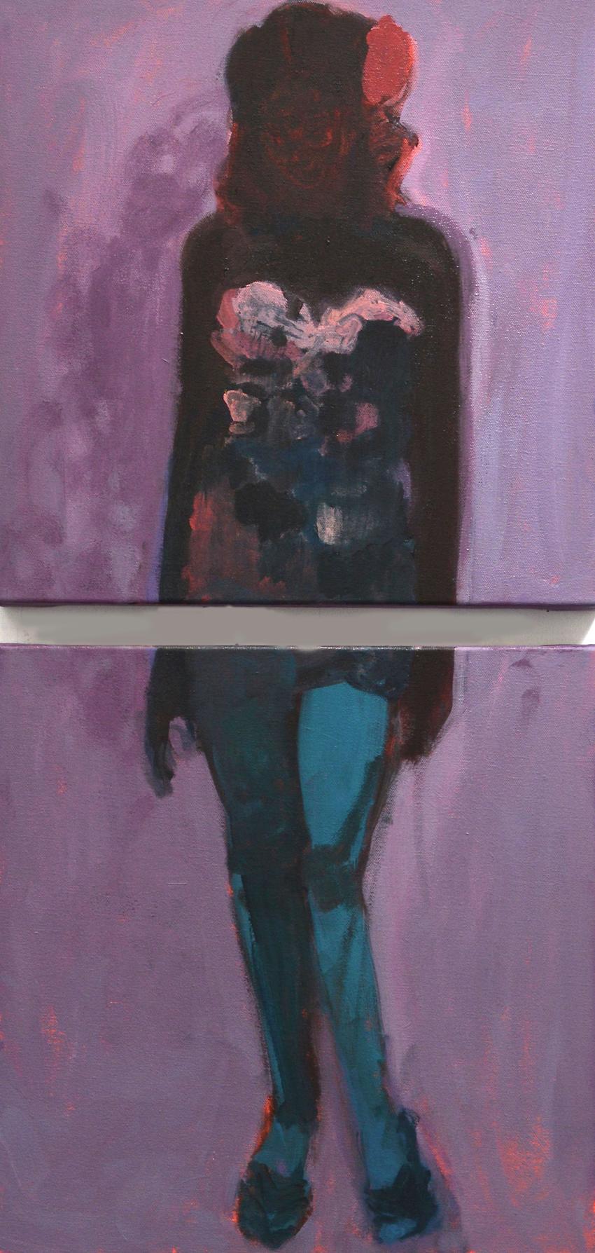Artist: Rachel Glittenberg  Title: The World of Edie  Size: 40 x 40 cm  Medium: Oil on canvas  Price: £1600