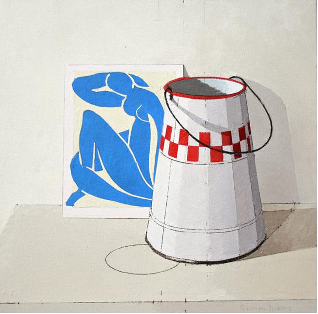 Title: Blue Nude  Size: 40 x 40 cm  Medium: Oil on canvas   Price: £825