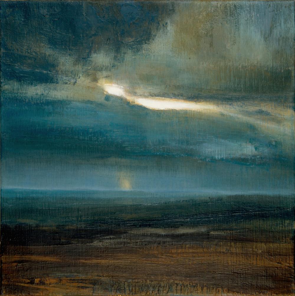 Title: South Downs Sunset XXX Size: 60 x 60 cm Medium: Oil on canvas