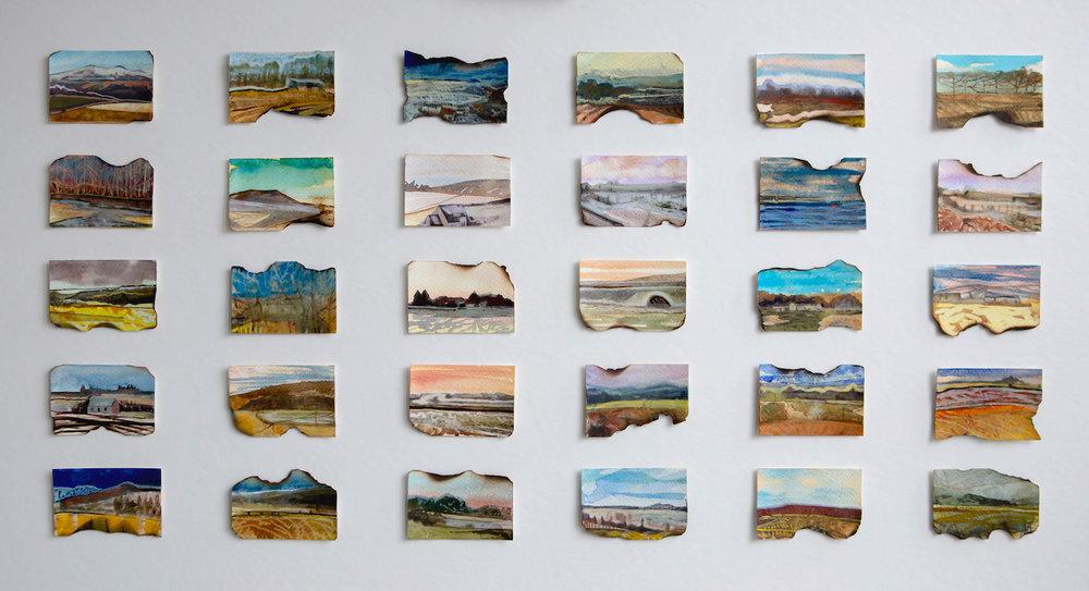 Title: Journey's End Size: 48 x 82 cm Medium: Watercolour