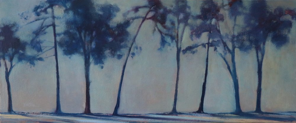 Title: Distant Treeline (I)  Size: 50 x 100 cm  Medium: Oil on canvas  Price: £1550