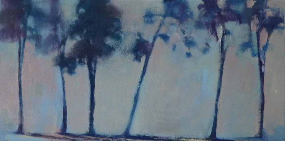 Title: Treeline Study  Size: 30 x 60 cm  Medium: Oil on canvas  Price: £995