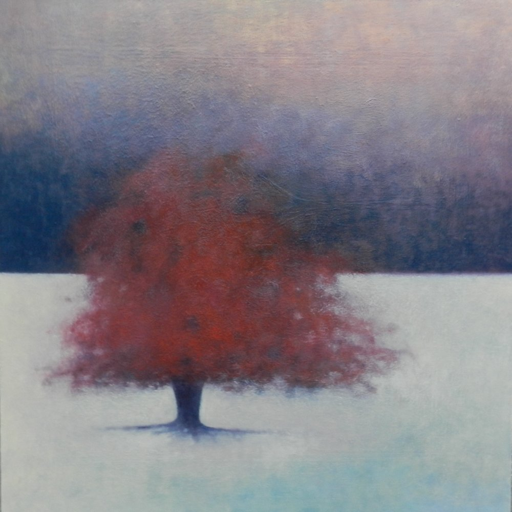 Title: Red Sky at Night  Size: 80 x 80 cm  Medium: Oil on canvas  Price: £1850