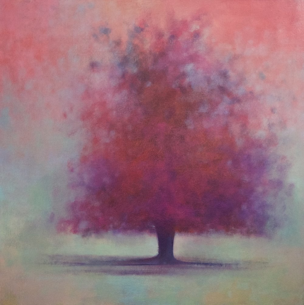 Title: Scarlett Flourish  Size: 92 x 92 cm  Medium: Oil on canvas  Price: £2350