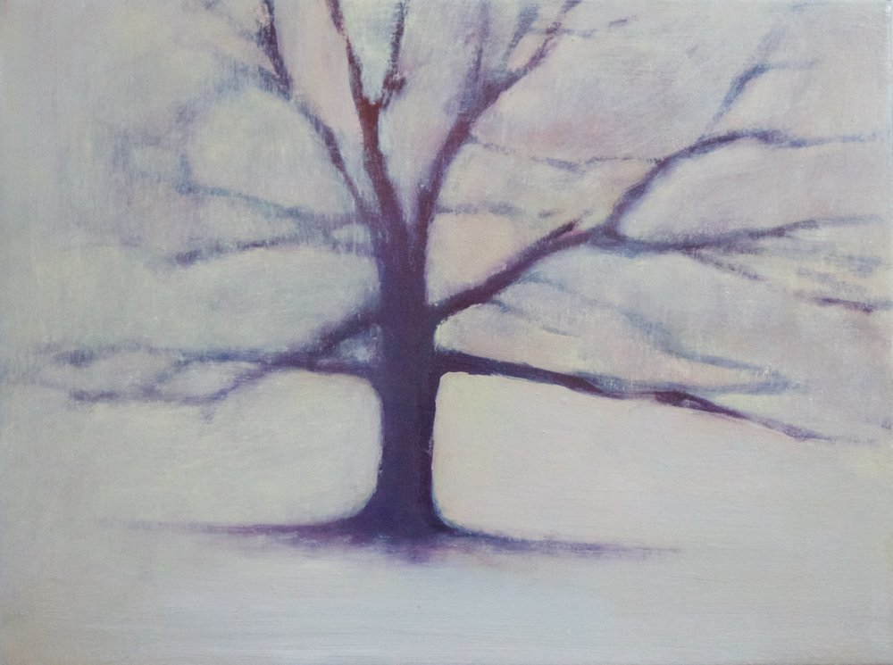 Title: Snowfall - Early  Size: 30 x 40 cm  Medium: Oil on canvas  Price: £580