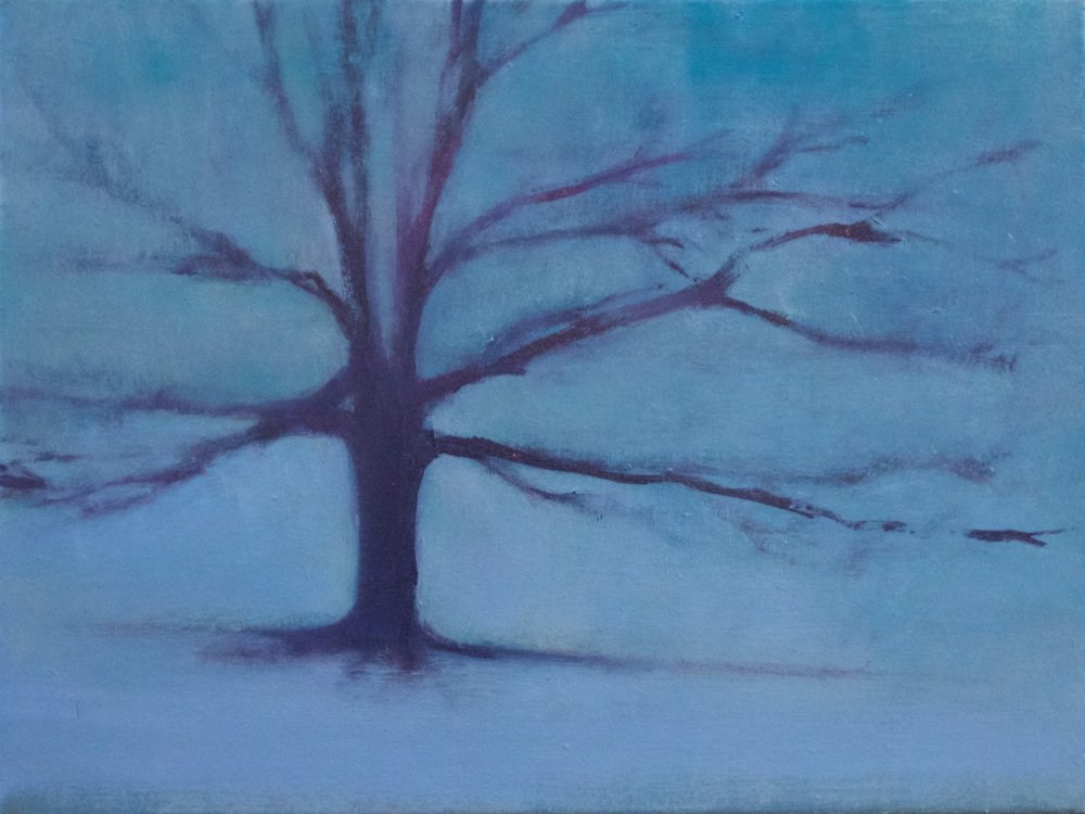 Title: Snowfall - Later  Size: 30 x 40 cm  Medium: Oil on canvas  Price: £580