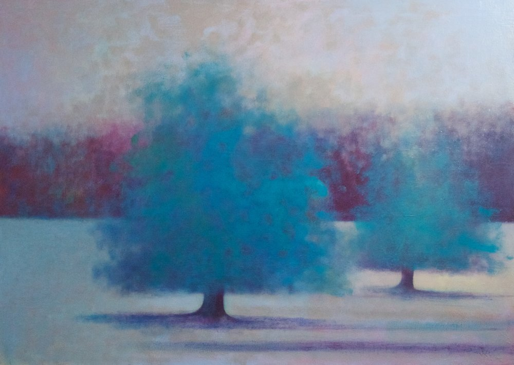 Title: Umbral Field  Size: 76 x 107 cm  Medium: Oil on canvas  Price: £2800