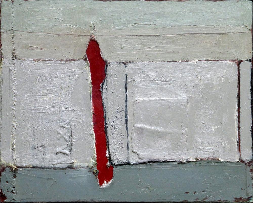 Title: Under Construction Size: 30.5 x 24 cm Medium: Oil, collage on canvas