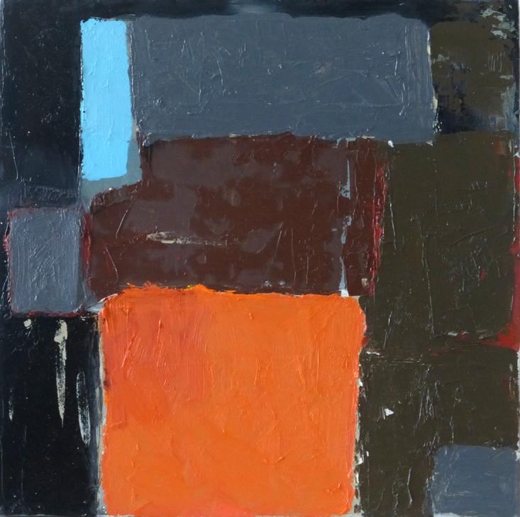 Title: Harvest Size: 30 x 30 cm Medium: Oil, collage on canvas