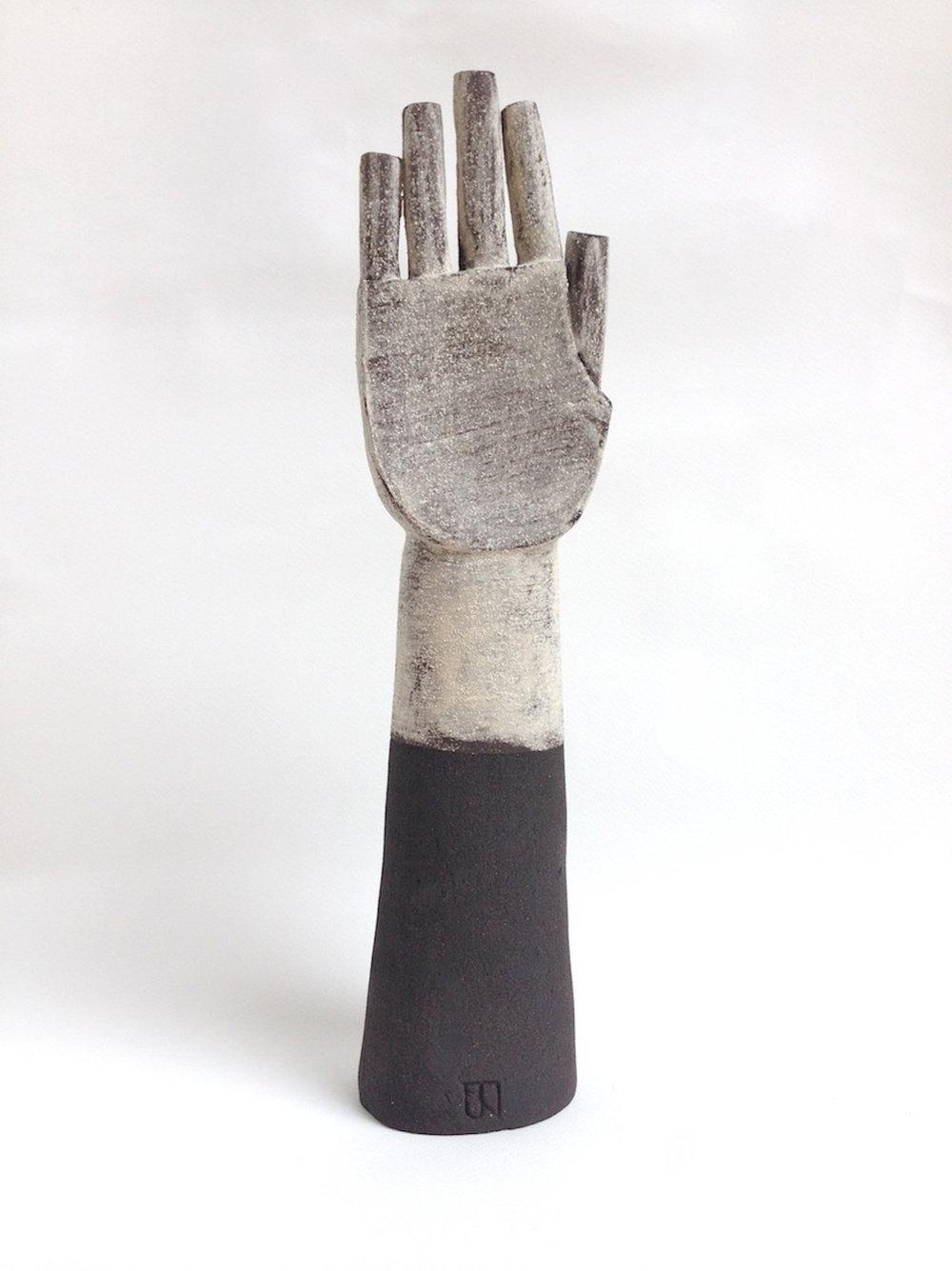 Title: White Glove Size: H 35 x W 12 x D 9 cm Medium: Black stoneware