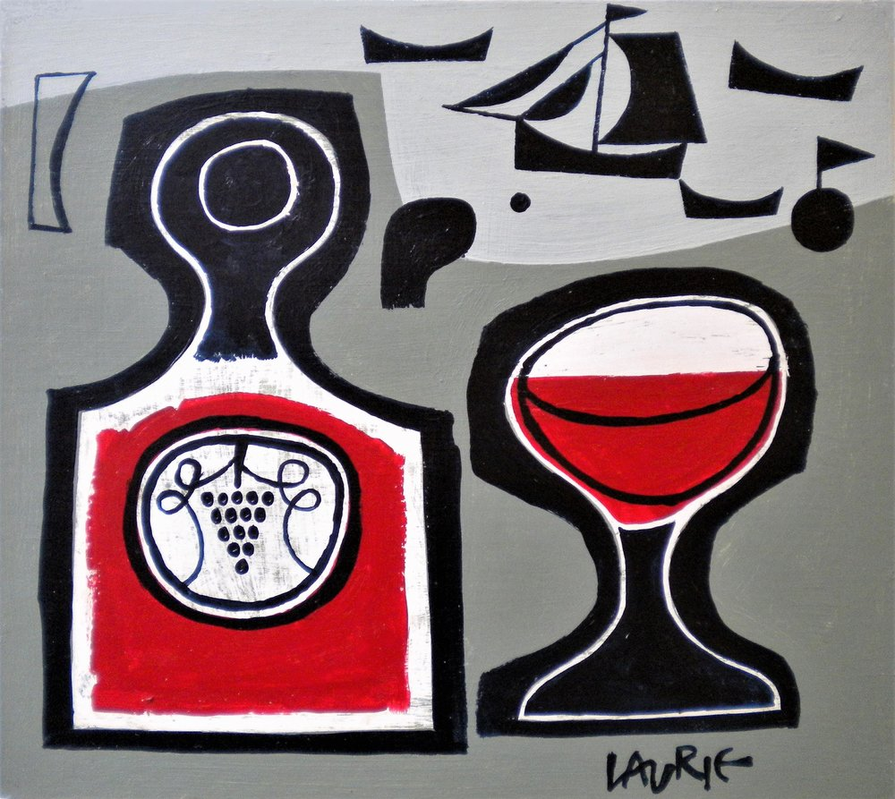 Artist: Simon Laurie  Title: Vino  Size: 23 x 25 cm  Medium: Acrylic on board  Price: £800