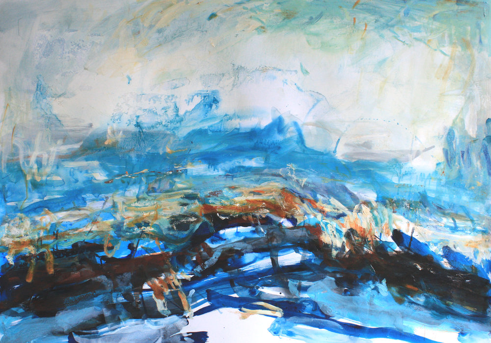 Artist: Mark Johnston  Title: Melting No. II  Size: 100 x 140 cm  Medium: Mixed Media  Price: £2900