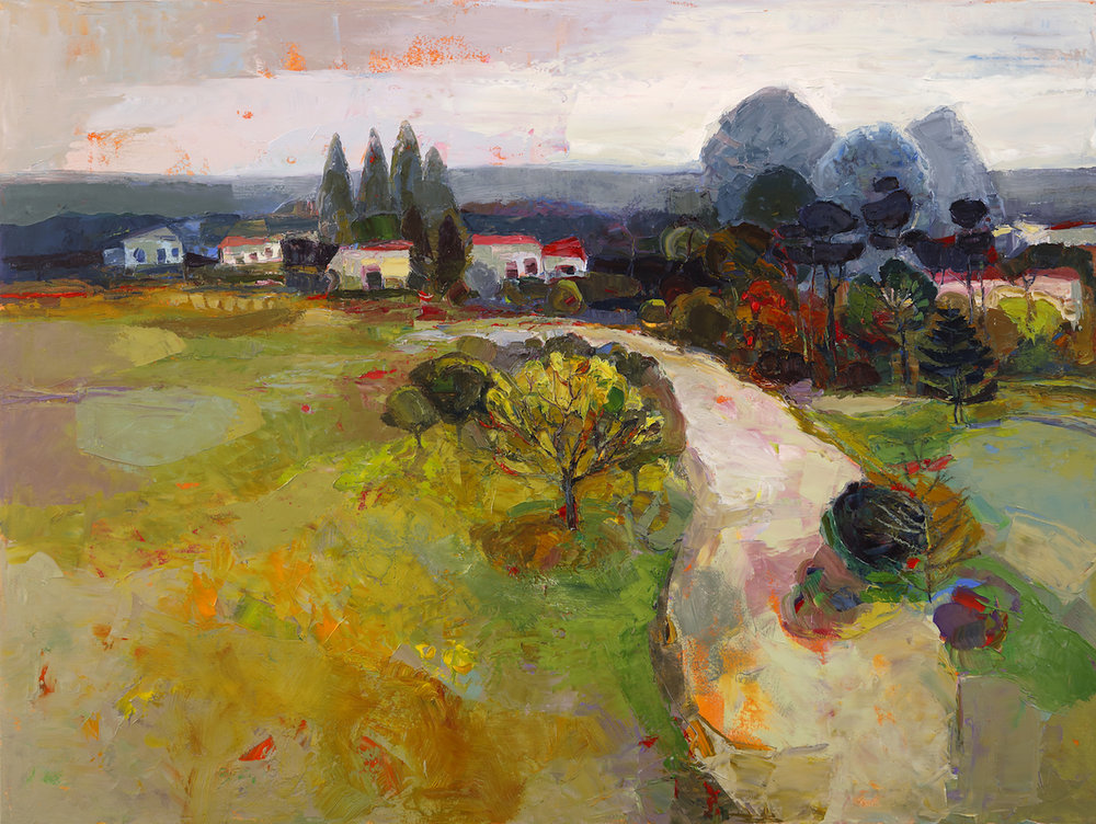 Artist: Kirsty Wither  Title: The Way There  Size: 76 x 102 cm  Medium: Oil on canvas  Price: £5450