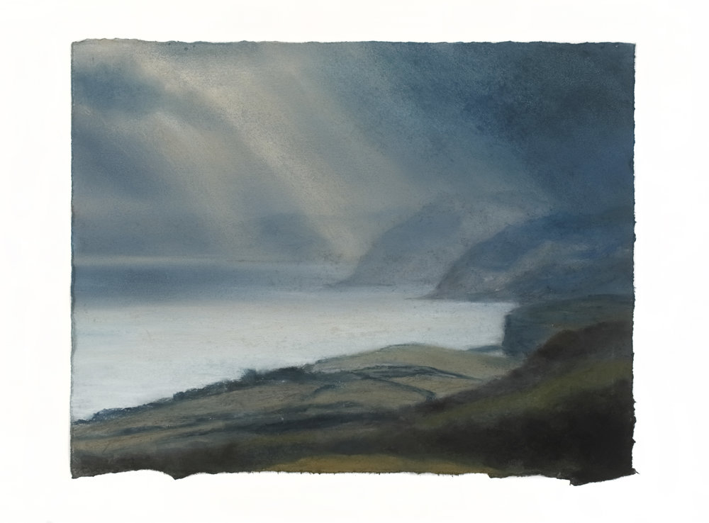 Artist: Matthew Draper  Title: Fleeting; Jurassic Coast Series no 18  Size: 31 x 40 cm  Medium: Pastel on paper  Price: £1460