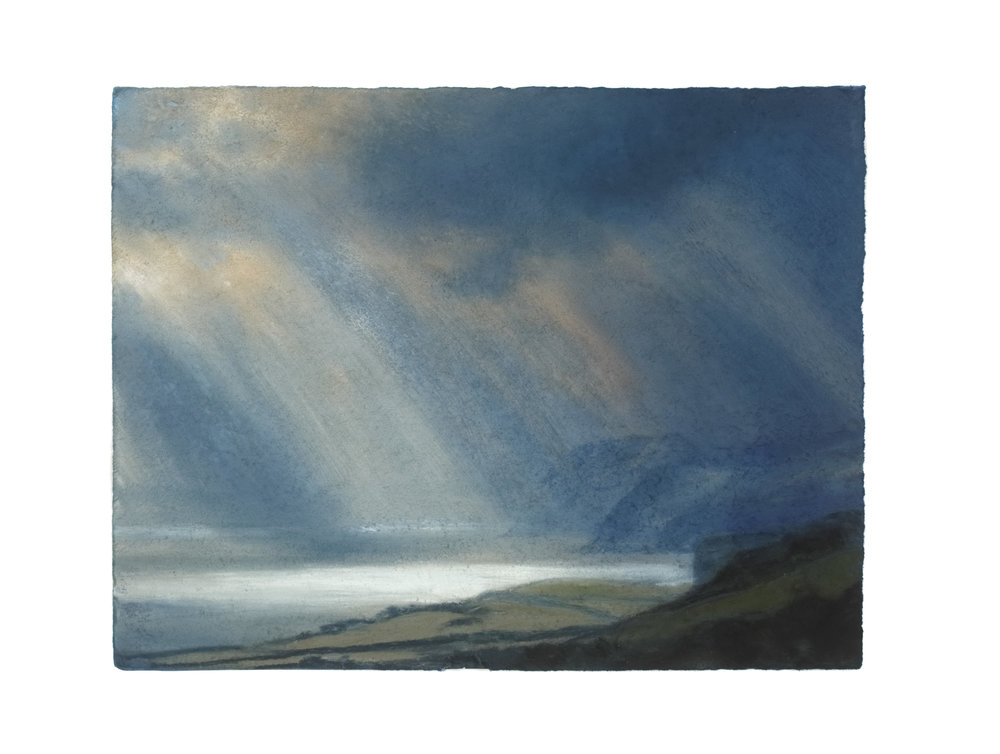 Artist: Matthew Draper  Title: Illume, Jurassic Coast series no 17  Size: 31 x 40 cm  Medium: Pastel on paper  Price: £1450