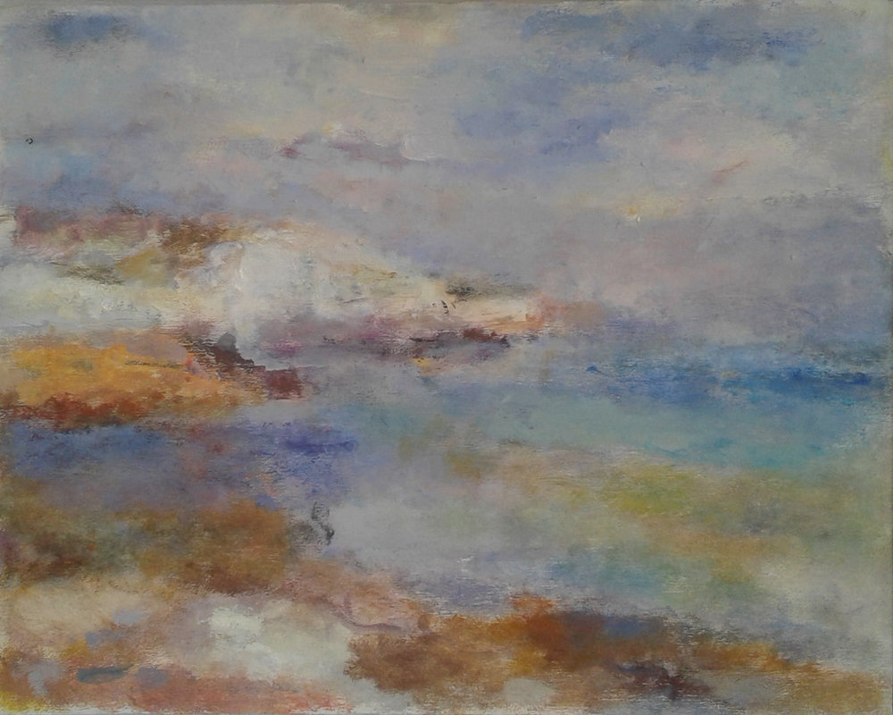 Artist: Anja Niedring  Title: Saltdean  Size: 24.5 x 31.5 cm  Medium: Oil on panel  Price: £500