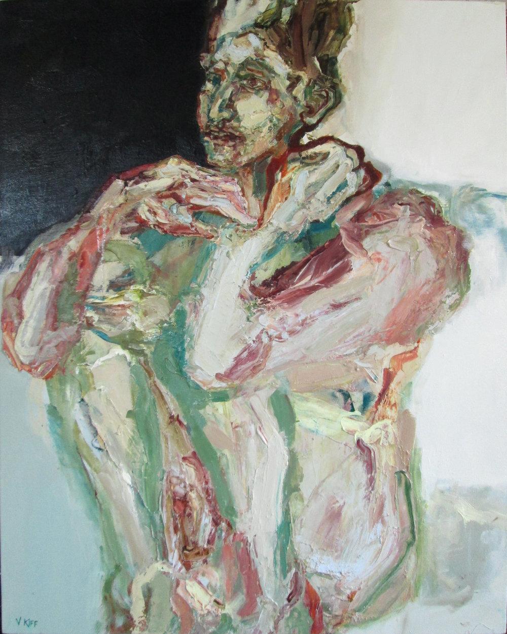 Title: Ayr Stone, Green-White  Size: 125 x 83 cm  Medium: Oil on canvas  Price: £3500