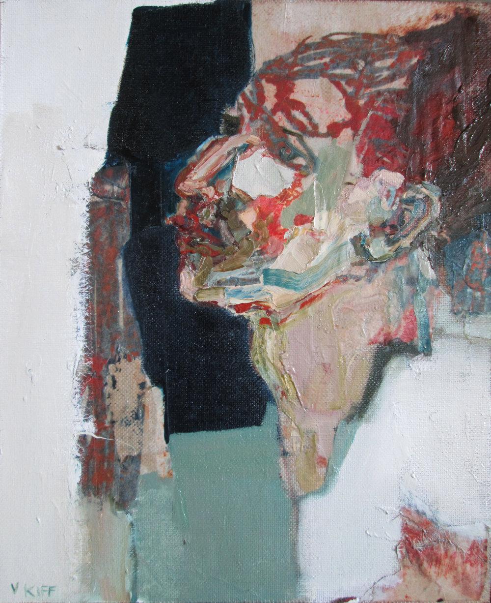 Title: Carmine Lake  Size: 51 x 58 cm  Medium: Oil on linen panel  Price:  SOLD