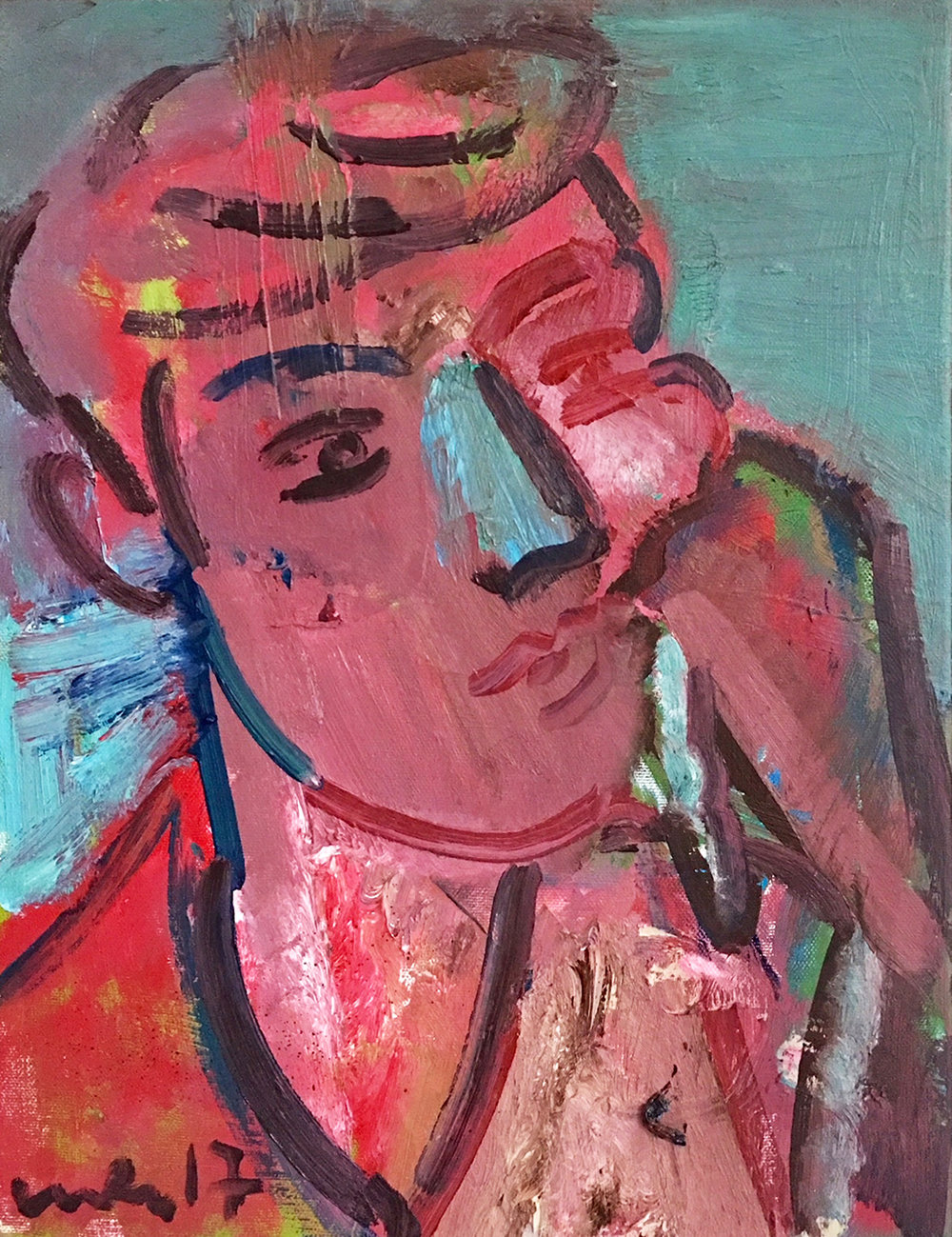 Title: Portrait of Billy  Size: 61 x 46 cm  Medium: Oil on canvas  Price: £1450