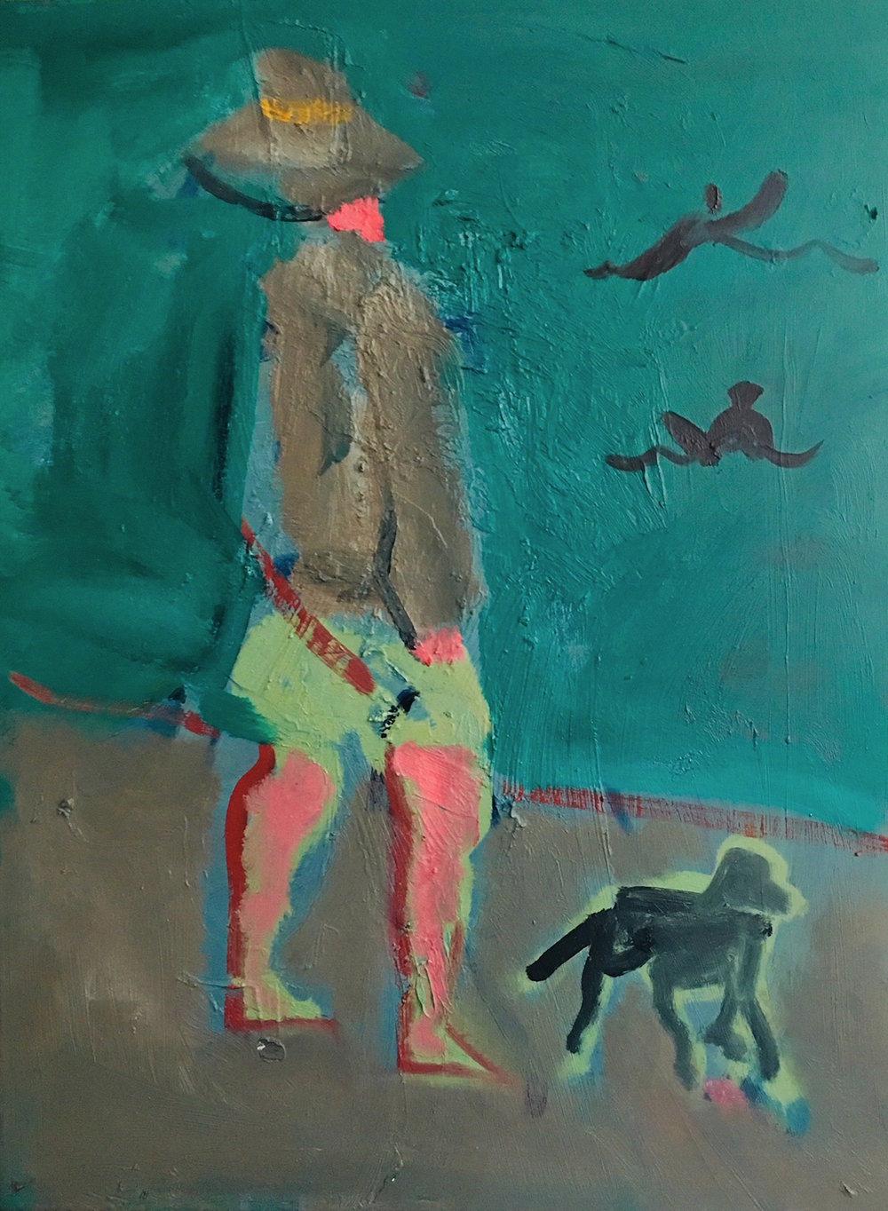 Title: Sennen Surfers  Size: 61 x 46 cm  Medium: Oil on canvas  Price: £1450