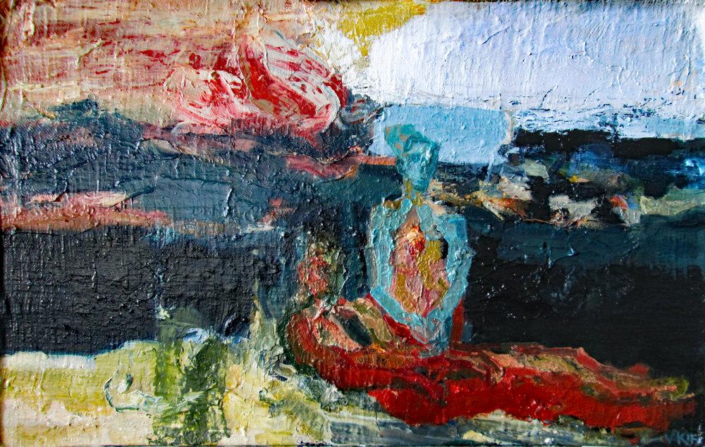 Title: The Sanguina Estuary  Size: 51 x 75 cm  Medium: Oil on board  Price: £1600